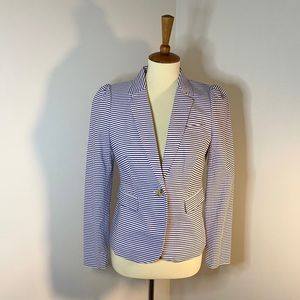 NWT J. Crew Seersucker Striped Blazer